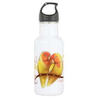 Peach Faced Lutino Lovebirds 532 Ml Water Bottle
