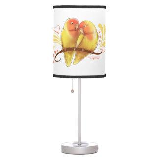 Peach Faced Lutino Lovebirds Table Lamp