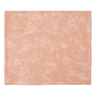 Peach Floral Duvet Cover