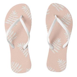 Peach Floral Flip Flops