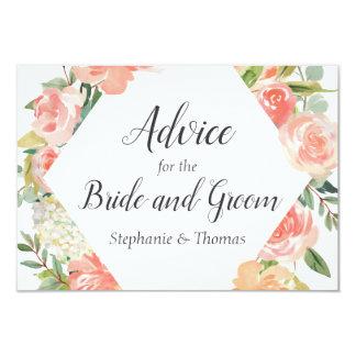 Peach Floral Medley Advice for Bride and Groom Card