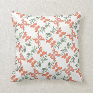 Peach Floral Motif Pillow