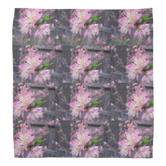 peach flower bandana