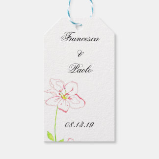 Peach Flower Gift Tags Pack Of Gift Tags