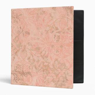Peach flower ornamental pattern background vinyl binders