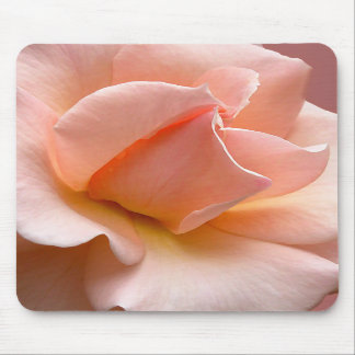 Peach Flowers Mousepad Wild Rose Decor Gifts