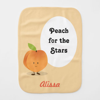 Peach for the Stars | Burp Cloth