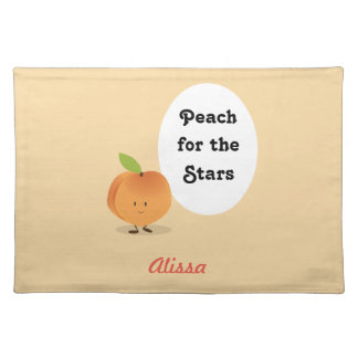 Peach for the Stars | Cloth Placemat