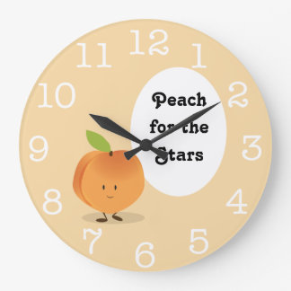 Peach for the Stars | Round Clock