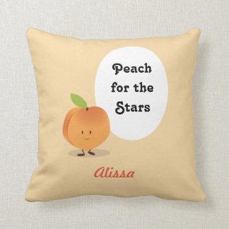 Peach for the Stars   Throw Pillow