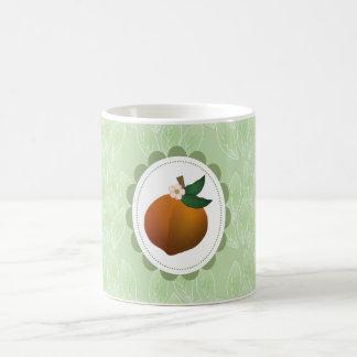 Peach fruit art coffee mug