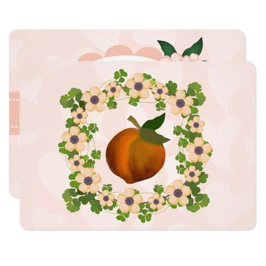 Peach fruit art design card