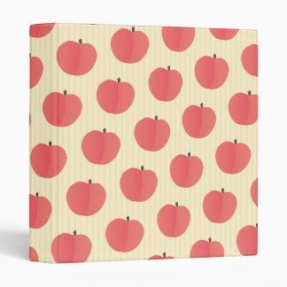 Peach Fruit Pattern 3 Ring Binder