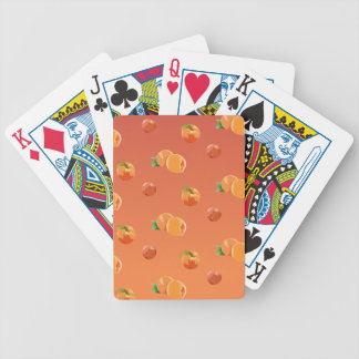 Peach Fruit Pattern Bicycle Playing Cards