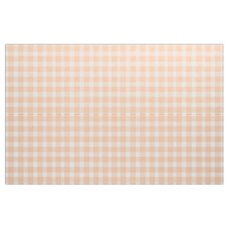 Peach Gingham Fabric