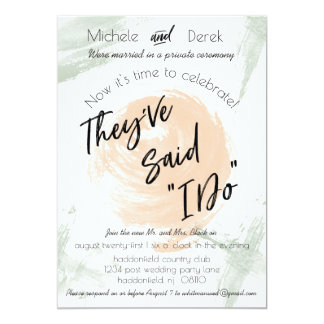 Peach & Green Watercolor After Wedding Party Card