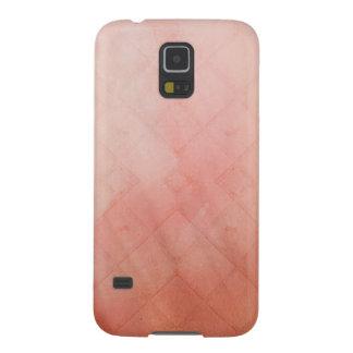 Peach Grid Galaxy S5 Cover