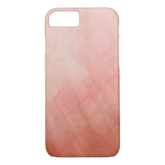 Peach Grid iPhone 7 Case