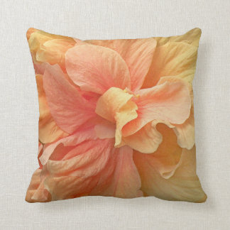 Peach Hibiscus American Mojo Accent Pillow