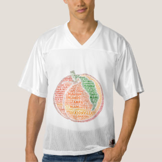 Peach illustrated with cities of Florida State USA Men's Football Jersey