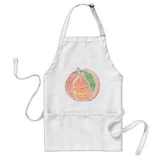 Peach illustrated with cities of Florida State USA Standard Apron