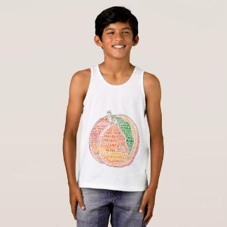 Peach illustrated with cities of Florida State USA Tank Top