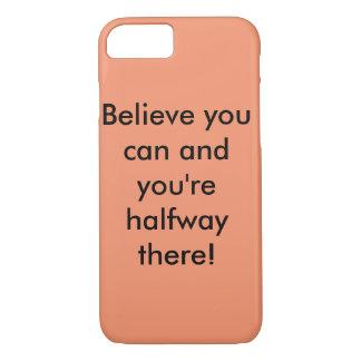 Peach iPhone 7 quote case