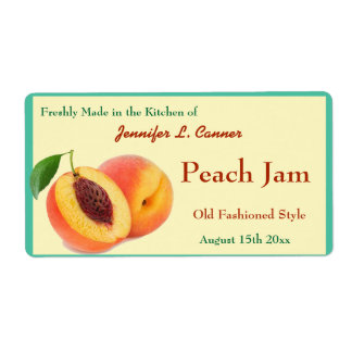 Peach Jam or Preserves Canning Jar