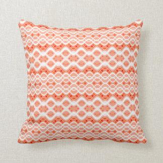 Peach Lace Throw Pillow
