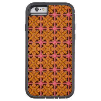 Peach Lattice Abstract Pink Glowing Snowflake Star Tough Xtreme iPhone 6 Case