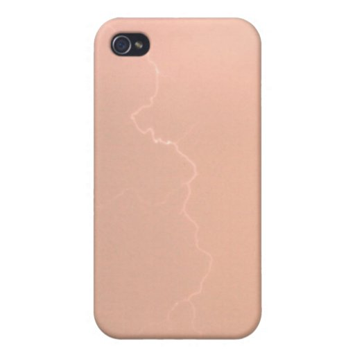 Peach Lightning 4/4s  iPhone 4/4S Cover