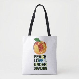 Peach, Love, And Understanding Tote Bag