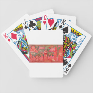 peach man bicycle playing cards