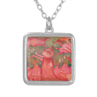 peach man silver plated necklace