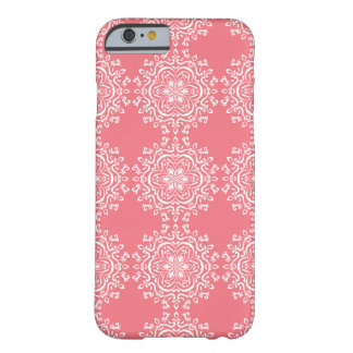 Peach Mandala Barely There iPhone 6 Case