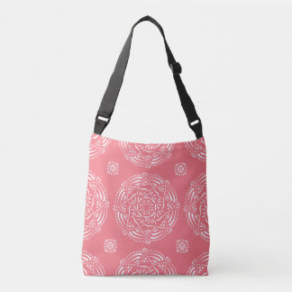 Peach Mandala Crossbody Bag