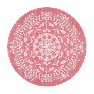 Peach Mandala Cutting Board