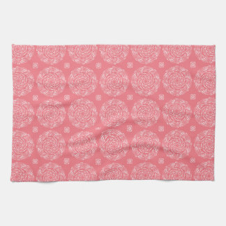 Peach Mandala Kitchen Towel
