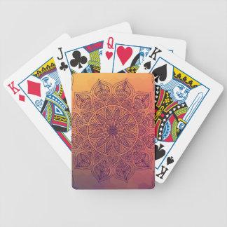 Peach mandala poker deck