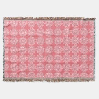 Peach Mandala Throw Blanket