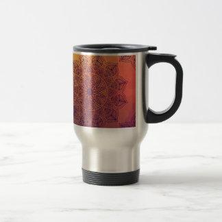 Peach mandala travel mug