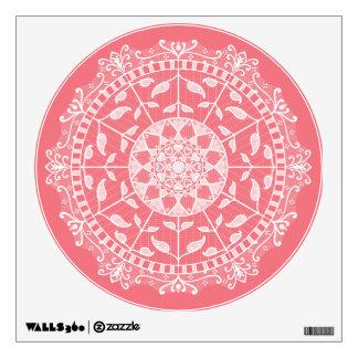 Peach Mandala Wall Decal