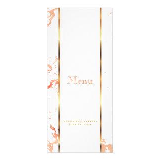 Peach Marble, Gold and White - Menu
