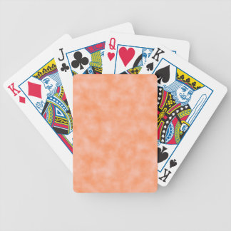 Peach Marbleized Bicycle Playing Cards
