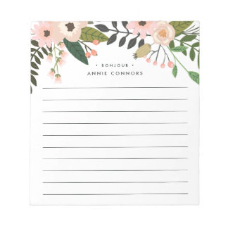 Peach Meadow | Personalized Lined Notepad
