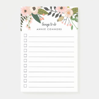 Peach Meadow | Personalized To Do List Post-it Notes