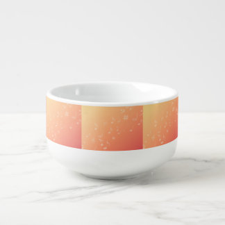 Peach Music Soup Bowl With Handle