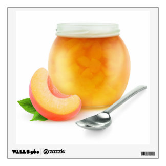 Peach or apricot jam wall decal