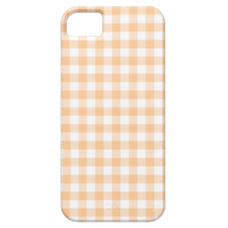 Peach Orange and White Gingham Case For The iPhone 5