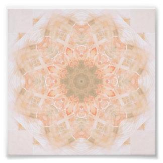 Peach Orange Mandala Photograph